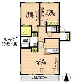 Casa Verdy2階Fの間取り画像