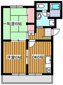 プレステージ98B棟1階Fの間取り画像