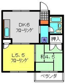 ボンエルフ3階Fの間取り画像
