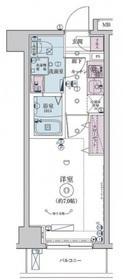 リヴシティ横濱インサイトⅡ2階Fの間取り画像
