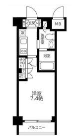カスタリア武蔵小杉2階Fの間取り画像