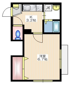 シリウス尾山台1階Fの間取り画像