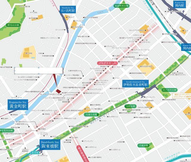 (仮称)桜木町リバーサイドPJ案内図