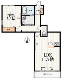 DIAKONIA2階Fの間取り画像