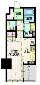宮益坂ビルディング ザ・渋谷レジデンス8階Fの間取り画像