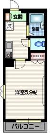 渋谷イーストマメゾン2階Fの間取り画像