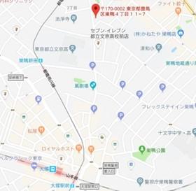 庚申塚駅 徒歩3分案内図