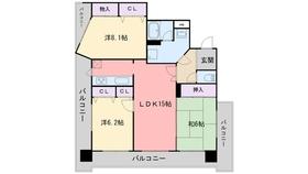 エスポワール福岡4階Fの間取り画像