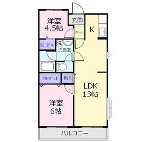 レジデンスクレインヒル2階Fの間取り画像