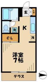 ペルレ2階Fの間取り画像
