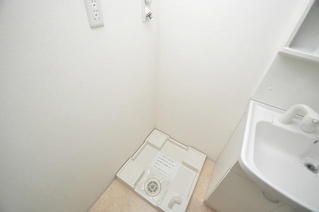 CASSIA高井田NorthCourt 洗濯機置場が室内にあると本当に助かりますよね。
