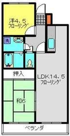 武蔵小杉駅 徒歩18分5階Fの間取り画像