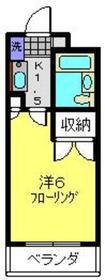 第2野本ビル2階Fの間取り画像