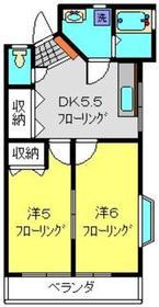 綱島駅 バス13分「倉田屋前バス」徒歩4分1階Fの間取り画像