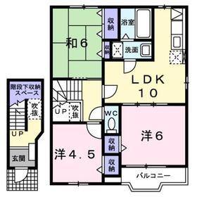 宮山駅 徒歩3分2階Fの間取り画像