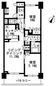 用賀駅 徒歩24分6階Fの間取り画像