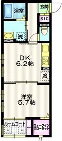 ル プティ エタン2階Fの間取り画像