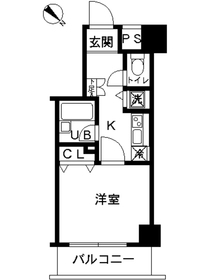 スカイコート富士見台5階Fの間取り画像