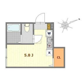 バーミープレイス吉祥寺Ⅱ1階Fの間取り画像