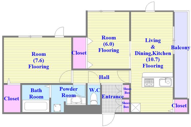 D-room大蓮北3丁目 新築物件。人気のセパレート・広めの間取です。