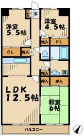 富志正6階Fの間取り画像