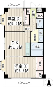 M・R・Kハイム末吉3階Fの間取り画像