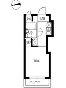 スカイコート武蔵小杉63階Fの間取り画像