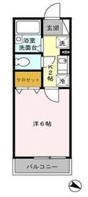 オーガスタ篠崎2階Fの間取り画像