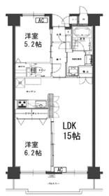 タウンコート湘南2階Fの間取り画像