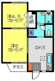 FKハイツ1階Fの間取り画像