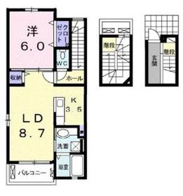 チェリーガーデン3階Fの間取り画像