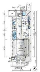 メインステージ横濱伊勢佐木Ⅱ11階Fの間取り画像