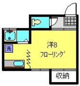小野アパートメント2階Fの間取り画像