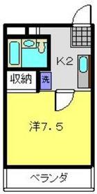 第3野本ビル3階Fの間取り画像
