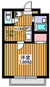 地下鉄赤塚駅 徒歩4分2階Fの間取り画像