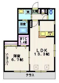 K-ハウス1階Fの間取り画像