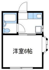 船子ハイツ1階Fの間取り画像