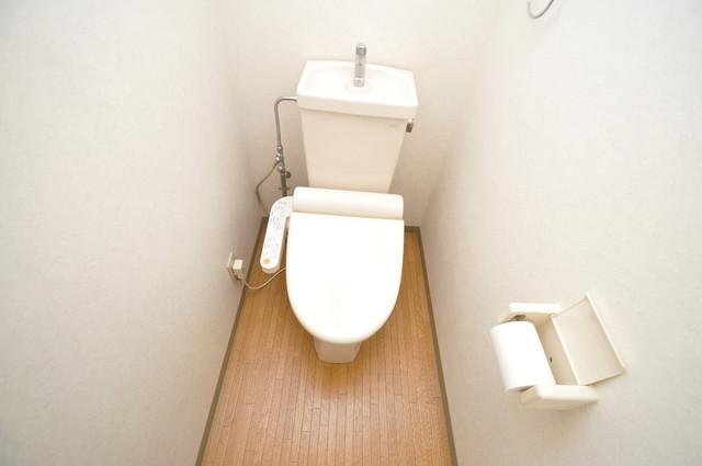 コーポラス光進 清潔感に溢れたトイレは落ちつける、癒しの空間。