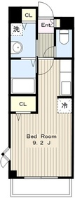 カーサエスタシオン2階Fの間取り画像