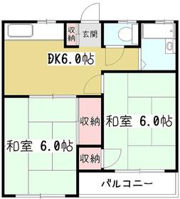 グレースマンションやまざき2階Fの間取り画像