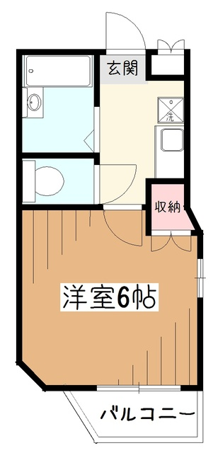 SKコーポ東村山間取図