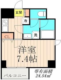 デュオメゾン錦糸町6階Fの間取り画像