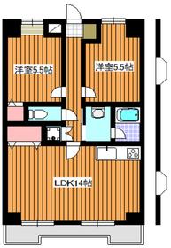 成増駅 徒歩13分5階Fの間取り画像