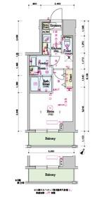 スカイコートグランデ大塚9階Fの間取り画像