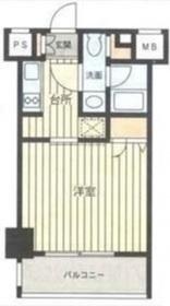 レジディア新横浜9階Fの間取り画像
