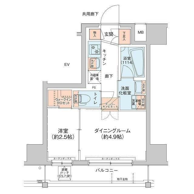 アジールコート新高円寺間取図
