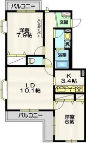 五反田駅 徒歩6分3階Fの間取り画像