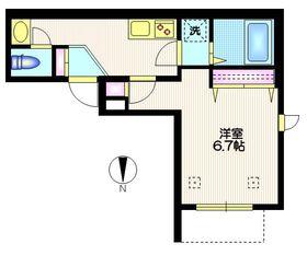 ライゼ富ヶ谷1階Fの間取り画像