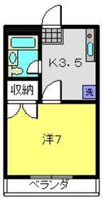 テラス鶴ヶ峰2階Fの間取り画像