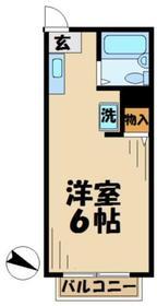 サンライズSATOH サトウ4階Fの間取り画像